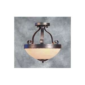 Forte Lighting 2183 03 11 3 Light Semi Flush Ceiling Light