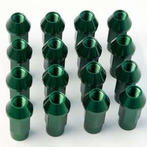 Plymouth Dodge Ford Chrysler M12x 1.5mm 16 Pieces Green Aluminum Open