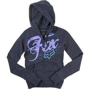 Fox Racing Womens White Lightning Zip Up Hoody   Small/Dark Shadow