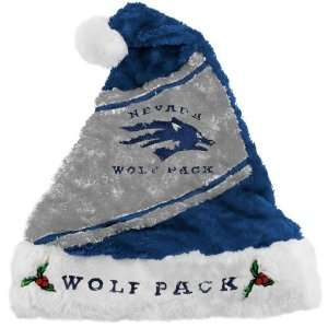 Nevada Wolf Pack Mistletoe Santa Hat