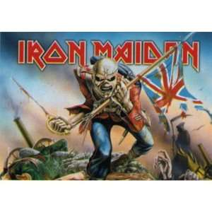 Iron Maiden   Trooper Textile Poster Patio, Lawn & Garden