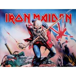 Iron Maiden The Trooper Textile Flag Poster