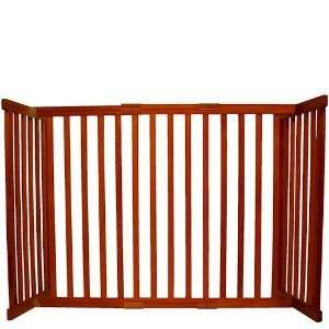 42304 Small Tall Free Standing Pet Gate   Cherry