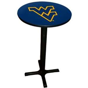 West Virginia Mountaineers Bar Pub Table Black