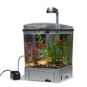 Water Wonders 1.5 Gallon Cube Aquarium Kit Desk Top Aquarium Pet