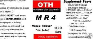 Muscle Relaxer Pain Reliever Herbal SCIATICA Back Pain