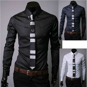 2012 New Mens Dress Shirts Slim Fit Casual Shirts ST34