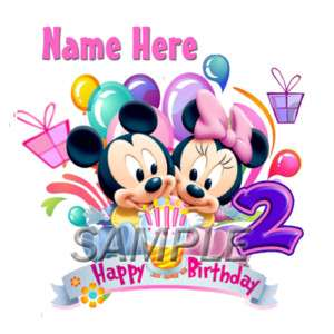 DISNEY BABY MINNIE MOUSE 2ND BIRTHDAY IRON ON TRANSFER