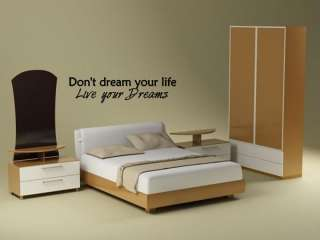 LIVE YOUR DREAMS Vinyl Wall Art Decal Sticker Home 36