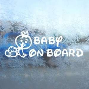Baby On Board (Girl) White Decal Car Window Laptop White