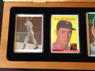 TED WILLIAMS AUTOGRAPHED SIGNED PORCELAIN CARD TOPPS SIGNATURE SERIES