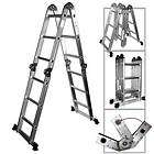 Aluminum Extension Step Ladder Max 300lbs Inspection Roofing