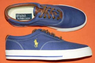 Polo Ralph Lauren Vaughn mens shoes canvas leather sneakers new