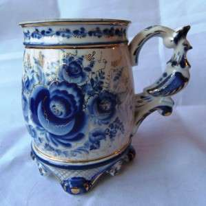 kind antique Imperial Russian fine porcelain cup/tankard.Tsar Peter I
