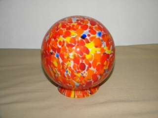 Vintage Art Deco Czechoslovakia Glass Lamp Globe/Shade
