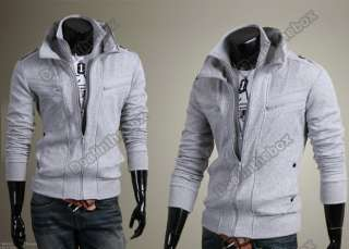 New Stylish Slim Fashion Mens Hoodies Fit Jackets Coats Double Zip