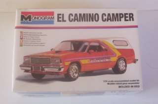 Chevy El Camino Hot Rod Custom w Camper Top Monogram 124 SEALED 2252