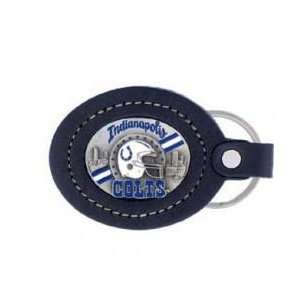 Large Leather Key Chain   Indianapolis Colts