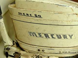 60 Twin Mercury Outboard Boat Comet Motor 6hp Short Shaft Cloud White