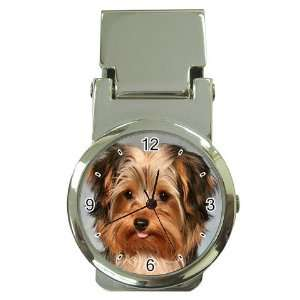 Yorkshire Terrier Puppy Dog 10 Money Clip Watch U0656