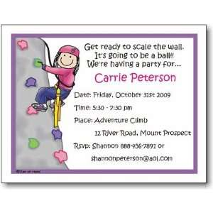 Pen At Hand Stick Figures   Invitations   Rock Climbing   Girl (Inv