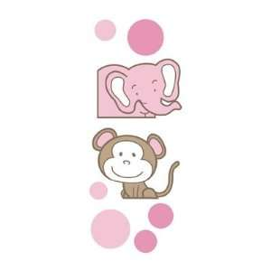Kids Girls Nursery Animals Wall Decal