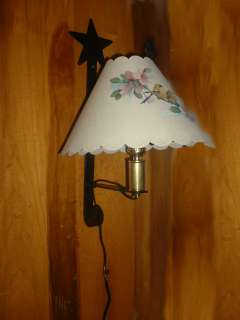 Black Wrought Iron Wall Sconce Lamp Star Elec. USA Made