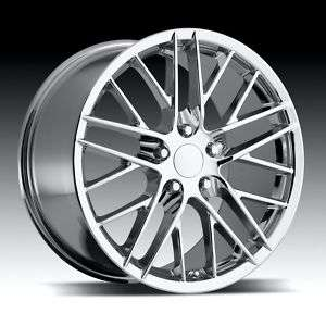 2005 2010 C6 CORVETTE CHROME ZR1 STYLE WHEELS C6 SIZES