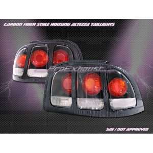 Ford Mustang Tail Lights JDM Carbon Altezza Taillights 1994 1995 1996