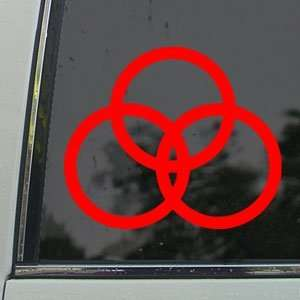 Led Zeppelin Red Decal Rock Band Truck Window Red Sticker