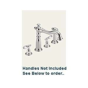 Delta 2256 LHP Victorian Two Handle Kitchen Faucet With Spray Chrome