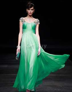 25 Size Noble Women Charm Chiffon Cocktail Long Formal Prom Dress