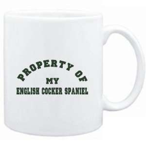Mug White  PROPERTY OF MY English Cocker Spaniel  Dogs