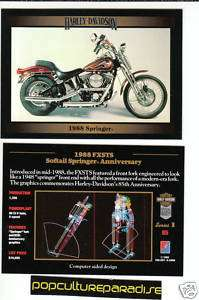 1988 HARLEY DAVIDSON FXSTS SOFTAIL SPRINGER ANN. CARD