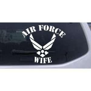 22.7in    Air Force Wife Military Car Window Wall Laptop Decal Sticker