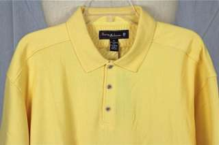 TOMMY BAHAMA TB 18 MARLIN AROUND YELLOW GOLF POLO SHIRT EXTRA LARGE XL