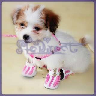 Cozy Pet Dog Breathable Stripes Boots Shoes Apparel M