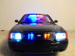 18 Undercover Black Police Car W/ Lights Custom Ford Slicktop