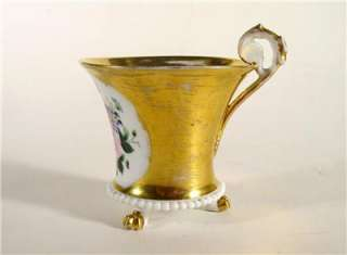 Rare Antique Imperial Russian Porcelain Cup Footed Gilt