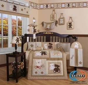 Boutique Baby Teddy Bear 13PCS CRIB BEDDING SET 813026010201