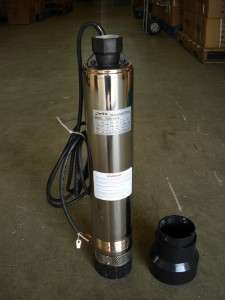 HP 4 Submersible Water Pump w/ Motor for Well, Lake, Cistern. 115V