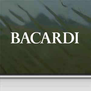 Bacardi White Sticker Vintage Car Laptop Vinyl Window