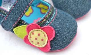 Blue Mary Jane toddler baby girl shoes size 2 3 4