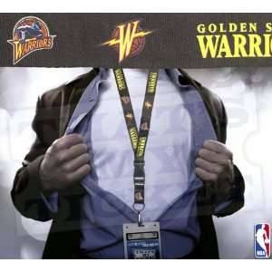 Golden State Warriors NBA Lanyard with Ticket Holder   Black