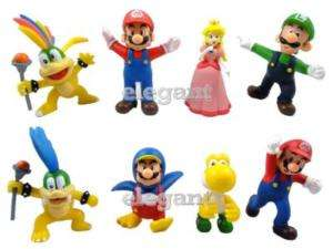 Nintendo Super Mario Bros Luigi Princess 8 Figur Set