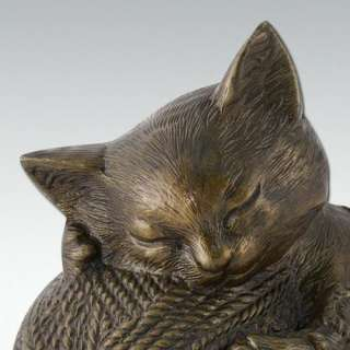 Kitty Cat   Bronze   Pet Cremation Urn   Engravable