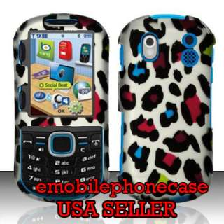 Cute Leopard Snap On Rubberized Hard Case Cover Samsung Intensity 2