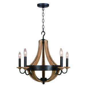 Hampton Bay Talo 5 Light 83 1/4 in. Driftwood Chandelier 27215 at The