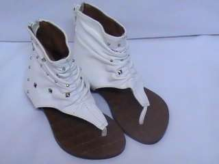 Girls White Thong Sandals (Emotional 19)FLK TDDLR Sz 8