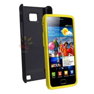 New Black Yellow Hybrid Hard Cover Case For Samsung Galaxy S2 II i9100